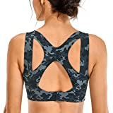 SYROKAN Women's High Impact Full Coverage Racerback Sports Runnig Bra with Built-in Cups