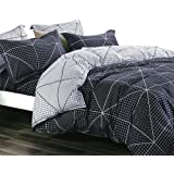 Essina Microfiber Super King Sized Quilt Cover Duvet Cover Doona Cover Set 3pc Arcadia Collection, Soft and Lightweight, Broo