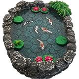 GlitZGlam Koi Miniature Pond - Koi Pond for A Fairy Garden. A Miniature Pond for A Miniature Fairy Garden and Enchanted Garde