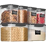 Airtight Food Storage Containers with Lids [6 Piece] BPA Free Plastic Kitchen Pantry Storage Containers - Dry Food Storage Co