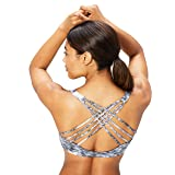 Core 10 Womens 354 Printed Light Support Yoga Multi-Strap Sports Bra Sports Bra