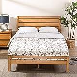 Zinus Aimee Traditional Queen Bed Frame   Pine Wood Platform with Headboard