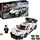 LEGO 76900 Speed Champions Koenigsegg Jesko Racing Sports Car Toy with Driver Minifigure, Racer Model Set for Kids