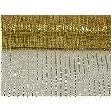 10 inch x 30 Feet - Metallic Deco Poly Mesh Ribbon (Gold 10)