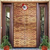 Brick Wall Backdrop 9 And 3/4 Cross Station, Brick Wall Party Backdrop Door Curtains for Wizard Wall Decoration Magical Wizar