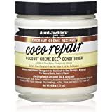 Aunt Jackie's Coconut Crème Recipes Coco Repair, Coconut Crème Deep Conditioner, Repair and Restores Damaged Hair, 15 Ounce J