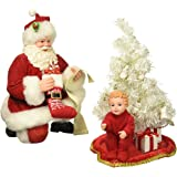 "Department 56 Possible Dreams Santa Claus ""Baby's First Tree"" Clothtique Christmas Figurine"