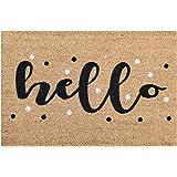 Tar Heel MarketPlace Mats New Natural Coir Non Slip Hello Floor Entrance Door Mat Indoor/Outdoor (36L X 24W)