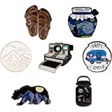 RipDesigns - 7 Enamel Lapel Pins for Backpacks, Jackets, etc.