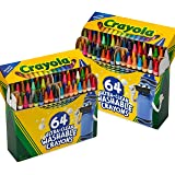 Crayola 64ct Ultra Clean Crayons, 2 Pack, Multicolor