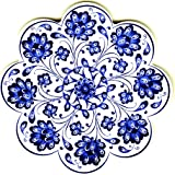 evIM Hand Art Ceramic Trivet - Ottoman Anatolian Decorative Organic Paint Iznik Trivet - Scratch Proof Machine Washable Foam