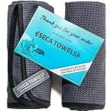 Seca Towels Best Gym Towels for Men & Women (2 Pack), Microfiber Exercise Sports Towel Set, Premium Fitness Sport Sweat Towel