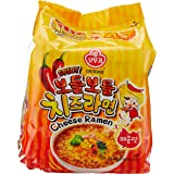 Ottogi SPICY CHEESE ramen, 111 g (Pack of 4)
