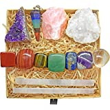 Crystals and Healing Stones Kit with 13 pcs. Healing Crystals, Gemstones and Crystals for Beginners Including Chakra Stones a