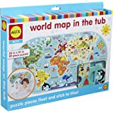ALEX Bath World Map in the Tub