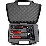 Casematix Hair Styling Case Compatible with Clipper, Trimmer, Finisher For Stylist Holds Oster Classic 76, Wahl, Andis and Ot