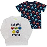 Sesame Street Boy's 2 Pack Sweatshirt and Tee