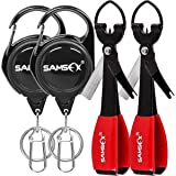 SAMSFX Fishing Quick Knot Tying Tool 4 in 1 Mono Line Clipper 420 Stainless Steel Fishing Tools