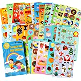 HORIECHALY Thanksgiving Day Sticker,30 Sheets no Repeat Pattern 6 Themes Scratch and sniff Stickers,Markers & Reward Sticker