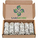 "Sarimoire White Sage Smudge Sticks - 6-4"" Sage Bundles - Perfect Sage Stick Smudge Sticks Smudging Kit Replenishment"