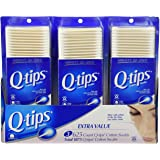 Q-tips Cotton Swabs 3 Packs of 625 Count Q-tips Total 1875 Q-tips Cotton Swabs Cos-10