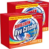 RUILLSEN Dye Trapping Sheets, Laundry Fragrance Free Household Needs Color Catcher Collector in-Wash 72X2 Count Color Savers