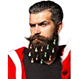 Beardaments Beard Ornaments 12pc Colorful Christmas Facial Hair Baubles for Men in the Holiday Spirit Easy Attach Mini Mustac