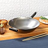 Joyce Chen Flat Bottom Wok, Steel, 14-Inch, J22-0060