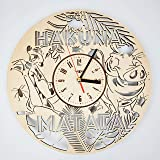 The Lion King ライオンキング木製掛け時計ー完璧で美しく作られたー現代アートで自宅を飾ろうー彼と彼女にユニークなギフトーサイズ12インチ(30 ㎝)