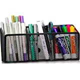 Workablez Magnetic Pencil Holder - 3 Generous Compartments Magnetic Storage Basket Organizer - Extra Strong Magnets - Perfect
