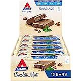 Atkins Chocolate Mint Bars | Keto Friendly Bars | 15 x 60g Low Carb Chocolate Mint Bars | Low Carb, Low Sugar, High Protein,