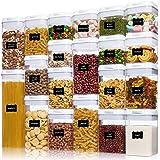 Vtopamrt airtight Foods Storage containers 20 Pieces Set Transparent