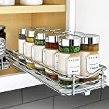"Lynk 430421DS Professional Spice Racks - Single Tier 4"" Wide Chrome"