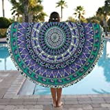 Popular Handicrafts Round tapestry Roundie Indian Mandala Round Beach Throw Tapestry Hippy Boho Gypsy Cotton Table Cover Sofa