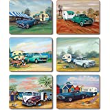 Cinnamon CMC384 Classics and Caravans Drink Coasters