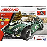 MECCANO 5 in 1 Roadster Pull Back Car Building Kit, STEM Engineering Education Toy for Ages 8 and up, Multicolor (6040176)