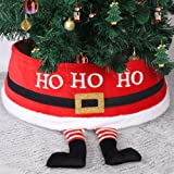 DR.DUDU Christmas Tree Ring with Santa Claus Pattern, Christmas Tree Collar,Top 24 Inches Diameter Bottom 30 Inches Diameter