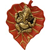 Charmy Crafts Metal Ganesha On Leaf, Wall Hanging Article for Wall Decor, Wedding Gifts, Best for Housewarming, Room Decor (R