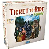 Ticket to Ride Europe Board Game 15th Anniversary Deluxe Edition | Family Board Game | Train Game | Ages 8+ | For 2 to 5 play