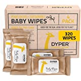 DYPER   Bamboo Baby Wipes   4 Pack 320 ct
