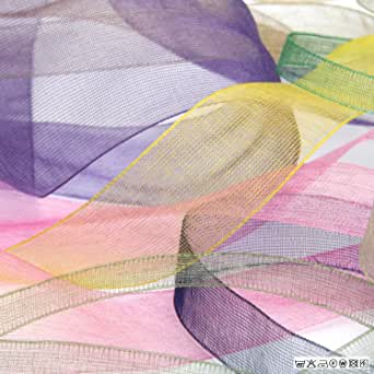 FUJIYAMA RIBBON オーガンジーリボン 12mm アクアグリーン 9.14M巻 手芸 服飾 ラッピング