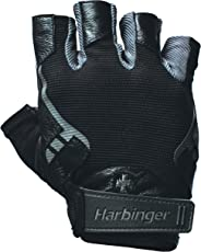 Harbinger Pro Non-Wristwrap Weightlifting Gloves with Vented Cushioned Leather Palm (Pair)