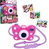 Minnie Mouse Disney Junior Picture Perfect Camera, Lights and Realistic Sounds Pretend Play Toy Camera for 3 Year Old Girls,