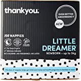 Thankyou Baby Nappies, Boys & Girls, Little Dreamer, Newborn up to 5kg (108 Count)