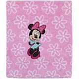 Disney Minnie Mouse Super Soft Coral Fleece Baby Blanket, Pink/Aqua