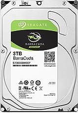 Seagate 内蔵ハードディスク 3.5インチ 3TB PCユーザー向け BarraCuda (SATA 6Gb/s / 5400rpm / 2年保証) 正規代理店品 ST3000DM007/A