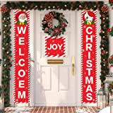 Nobie vivid Christmas Decorations Outdoor,3 Pcs Merry Christmas Porch Sign, Xmas Banners for Indoor Outdoor Front Door Living