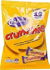Cadbury Crunchie Chocolate Bar Sharepack (Pack of 12), 180g