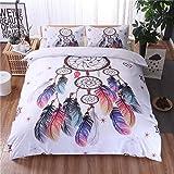 A Nice Night Dreamcatcher Printed Bohemia Duvet Cover Set Queen Size, Boho Dream Catcher Quilt Cover Bedding Sets,Queen