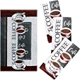 """Franco Kitchen Designers Set of 4 Decorative Soft and Absorbent Cotton Dish Towels, 15"""" x 25"""", Always Fresh"""